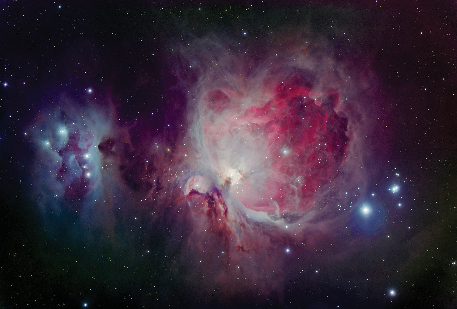 false colour Orion Nebula